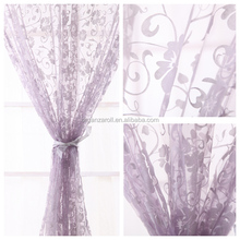 2015 New Product Flocking Organza Curtains Fabrics Modern Style