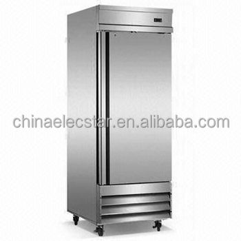 American style kitchen refrigerator/ restaurant refigeration equipment/stainless steel solid door cabinet