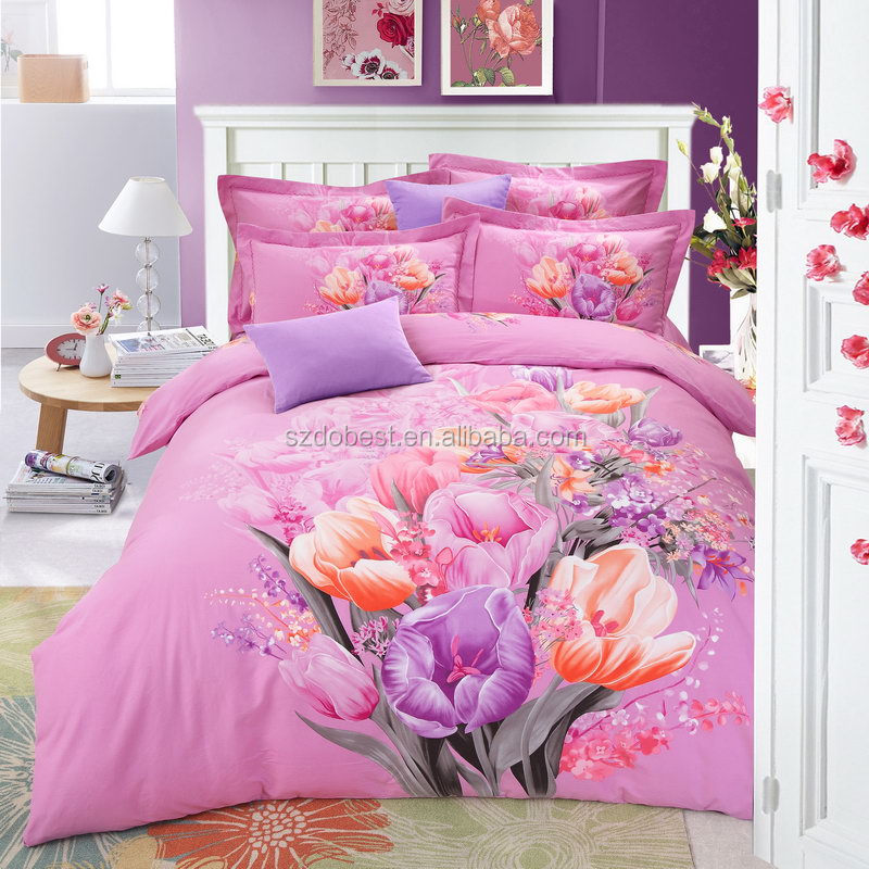 2016 alibaba China whoesale comforter luxury 100% polyester / cotton 3D bedding for customized