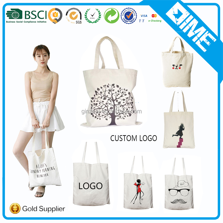 wholesale Fashion Custom Printed Canvas tote bag No Minimum