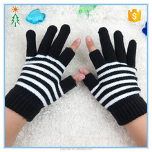 2017custom acrylic knitted winter write cheap warm fingerless magic gloves