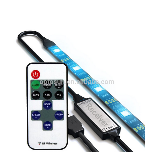 RGB 5050 LED Light Strip Flexible Waterproof with Remote Control and USB Connectors for TV Background Lighting Decoration