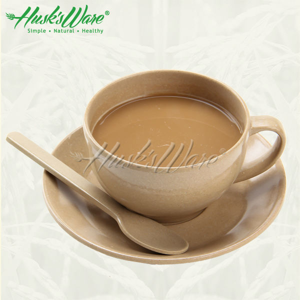 wholesale eco plant fiber coffee cup and saucer with customized logo