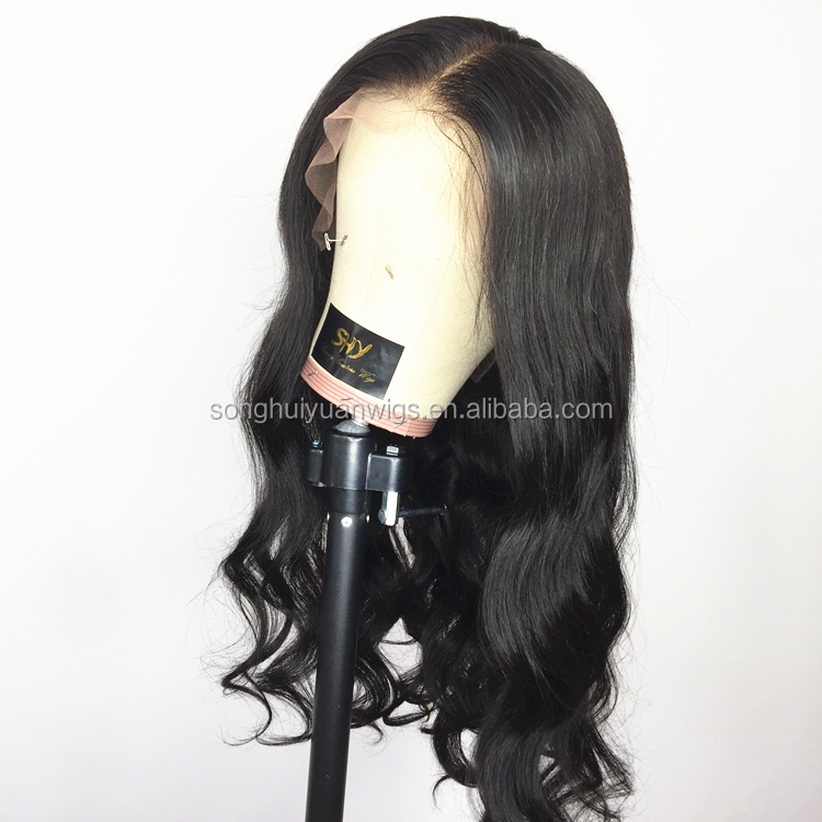 100% human hair indian malaysian lace front wigs without bangs