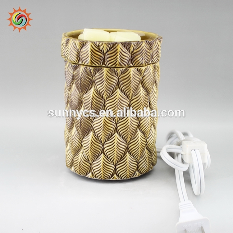 High quality delicate aroma ceramic wax oil burner candle warmer made in China