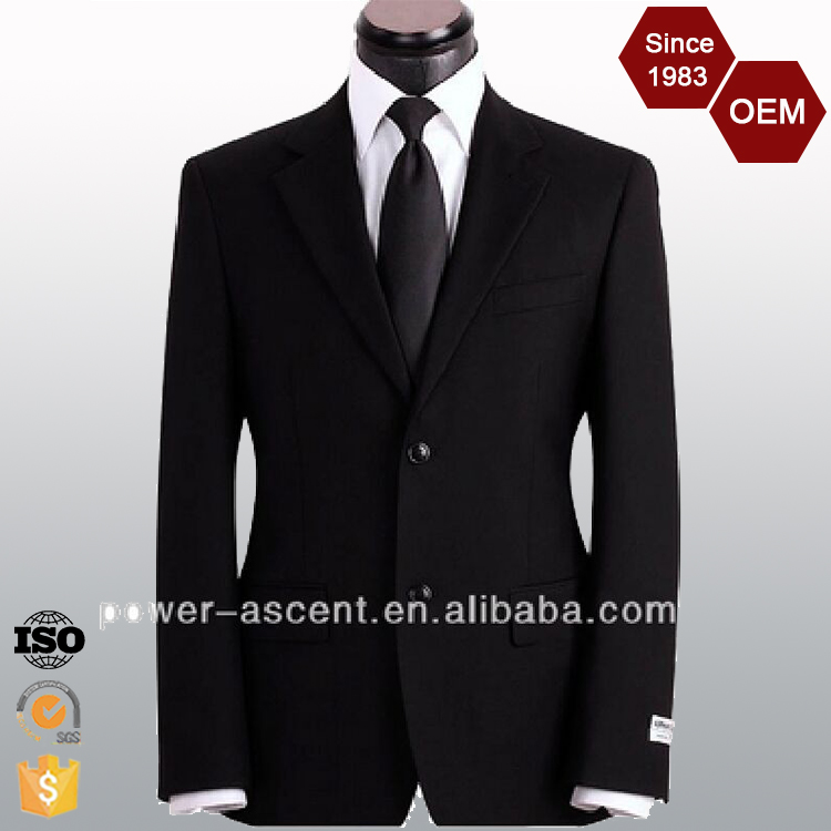 OEM Wholesale Slim Fit Classic Design Men's Business Suits Black