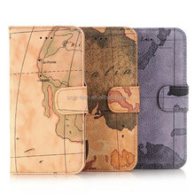 Retro Vintage World Map Wallet Pu Leather Case With Card Slots For iPhone 7 Apple mobile phone