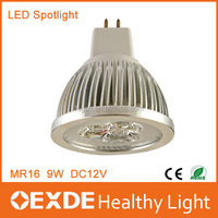 2016 Hot Aluminum LED Spotlight bulb 9W 12W 15W Warm Cool White GU10 MR16 DC12V LED Spotlight Dimmable