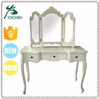 wood dressing mirror with storage dressing table