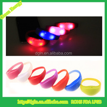 glow in the dark silicone bracelet/ glowing silicone wristband/ Promotion silicone wrist bands