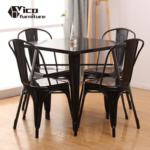 best price cheap dining wrought iron metal industrial vintage antique cafe bistro restaurant table and chair