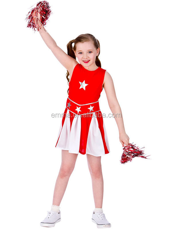 Sexy Varsity Red High School Musical Cheerleader Kids Uniform New Costume Outfit Dancer Costume BC12514