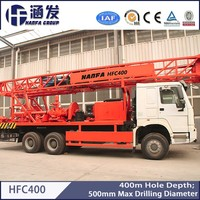 400 meters depth top rotary water well drilling rig HFC400 truck mounted drilling rig for deep water well construction