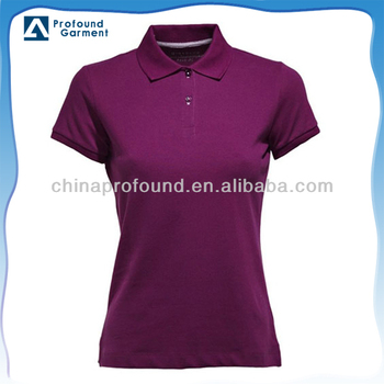 plain polo shirt for adult women wholesale camisa polo China factory new 2014