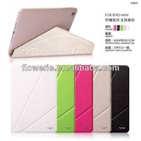 FL323 hot selling Lemon Series stand wallet leather case for ipad mini 2