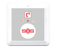 GSM home security SOS Call senior emergency alarm supports 16 wireless detectors 3 remote controller