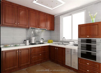Teak Solid Wood Kitchen Cabinet /Classic Hardwood Kitchen Cabinets