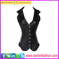 New arrival latest design wholesale leather steel boned corsets