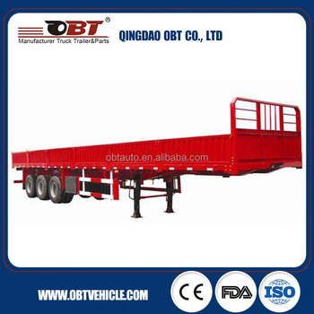 3 axleExported Widely Used Flatbed Trailer Container Platform Semi Trailer with Post and Sidewalls Optional