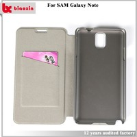 Free sample flip case cover for samsung galaxy note3 neo