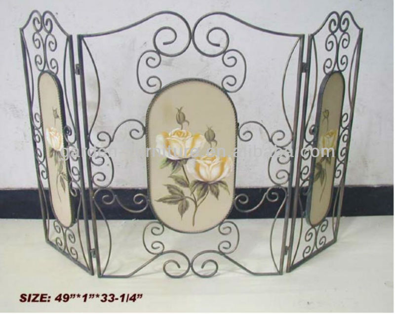 decorative wrought iron folding screen wholesale