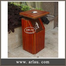 Arlau Resistant Outdoor Furniture,Outdoor Waste Basket,Wood Craft Trash Can