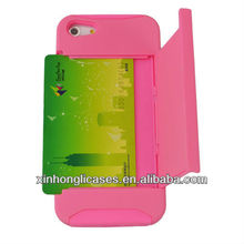 plug card hard case for iphone5;cover for iphone5 with insert card
