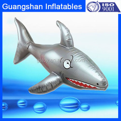 Wholesale cheap plastic silver inflatable sea animal shark toy