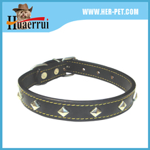 2015 Best Selling PU Leather dog chain Collar Fashion Pet Dog Training Collar