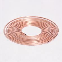 Air conditioner tubing 3/8 copper coated galvanized annealing steel pipe