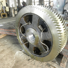 Gearbox of cast tooth gear wheel