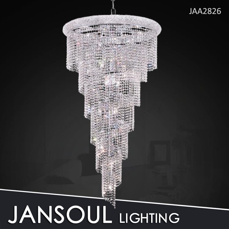 long shape staircase chandelier crystal for sale