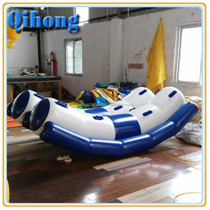 Summer park amusement park funny theme park best quality inflatable water adult seesaw