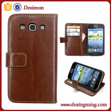 OEM Factory exclusive wallet stand Flip fold PU Leather pouch cover case for samsung galaxy win i8552