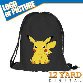 Portable Gym Sack Pack Drawstring Backpack, Cute Daily Pull String Bag, Lovely Smile Face Kid's School Bag