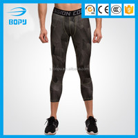 ployeste and spandex mens running compression tights sexy leggings for sports