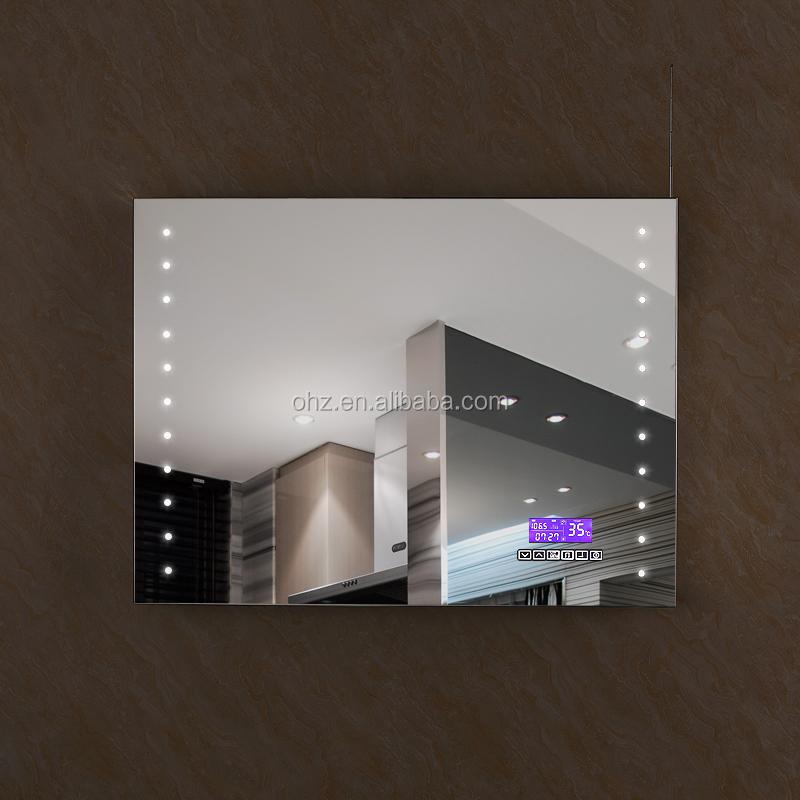 nouveau design salle de bains chic led miroir avec bluetooth radio et horloge sm 001 mirroir de. Black Bedroom Furniture Sets. Home Design Ideas