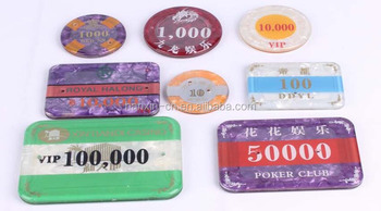 Plastic acrylic cheap custom round rectangular poker chips