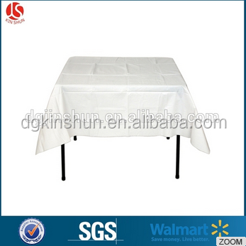 Plastic table cover square tablecloth pe dining plastic tablecloths