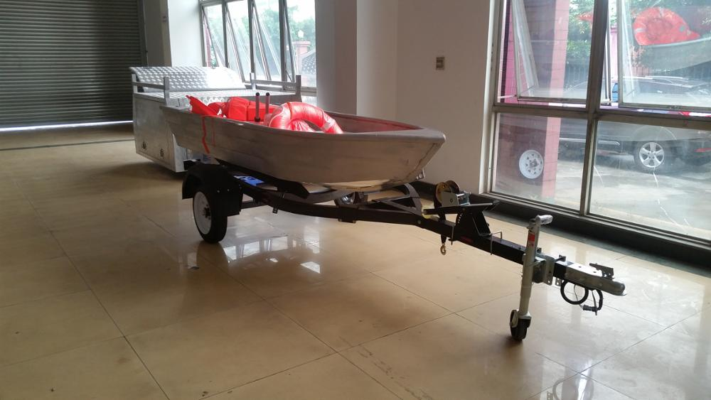 Easy load Galvanized Stainless steel custom fishing boat trailer for Jet ski
