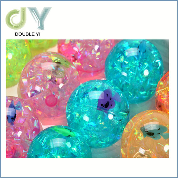 2015 New Products China Manufacturer Good Quality Colorful Led Light Up Bouncing Ball Toy Plastic Hollow Ball High Bouncing Ball