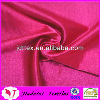 nylon 95 spandex 5 shiny knitted stretch satin fabric for dance costume