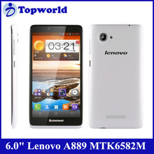 "HOT!! mobile phone 6.0"" Lenovo A889 MTK6582M quad core with android 4.2.2 RAM1G+ROM8G smartphone"