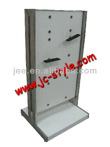 used shoe store display racks/free standing adjustable sport shoes display rack/custom pos display stand