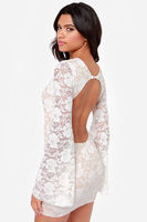 lastest design summer dress/One Rad Girl Evan Backless Ivory Lace Dress/clothing factories in china model-cp228