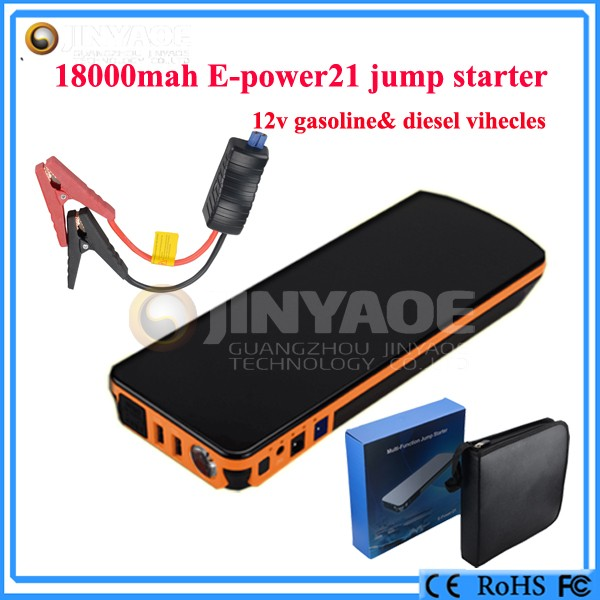 Epower 21 Portable Power Pack With 600A 18000mAh multi-function car jump starter 12v