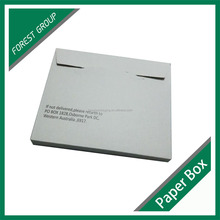 CARDBOARD PLAIN WHITE MAILER BOXES, STANDARD WHITE PANEL WRAP BOOK BOXES WITH AN ADHESIVE STRIP