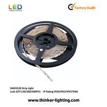Shenzhen export lighting cheap SMD3528 led strip light 30leds per meter CE&RoHs certification