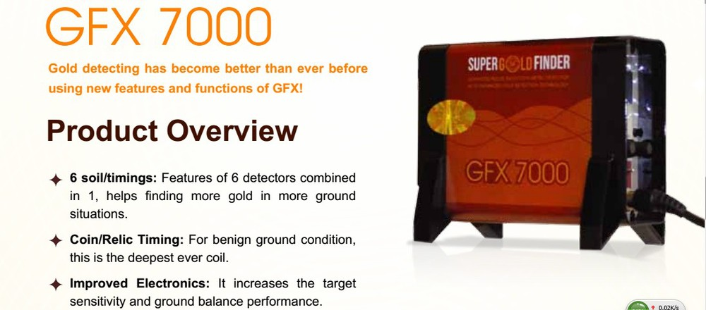 2018 big promotion ! super gold finder GFX7000