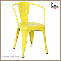 Hot sale beauty metal frame dining room chair with high back